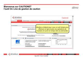 Bienvenue sur CAUTIONET loutil On Line de gestion de caution