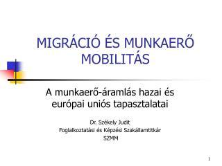 MIGR CI   S MUNKAERO MOBILIT S