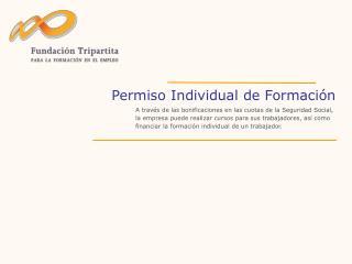 Permiso Individual de Formaci n