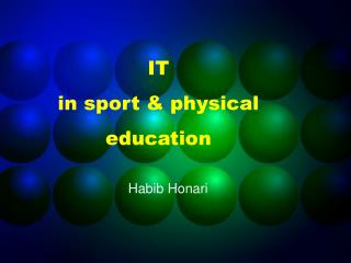 IT in sport  physical education