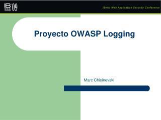 Proyecto OWASP Logging
