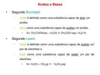 cidos e Bases