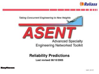 Reliability Predictions  Last revised 08