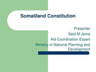 Somaliland Constitution