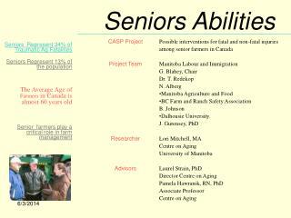 Seniors Abilities