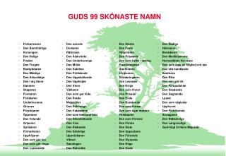 GUDS 99 SK NASTE NAMN