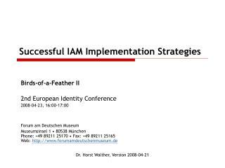 Successful IAM Implementation Strategies