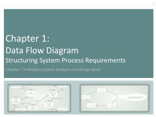 Chapter 1:  Data Flow Diagram Structuring System Process Requirements  Chapter 7 in Modern System Analysis and Design Bo