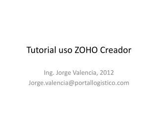 Tutorial uso ZOHO Creador