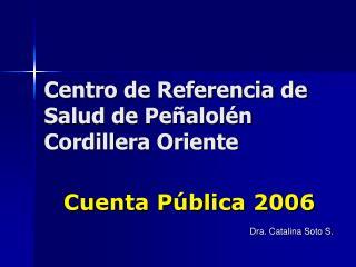Centro de Referencia de Salud de Pe alol n Cordillera Oriente