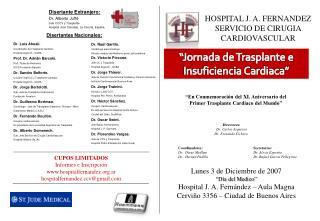 Jornada de Trasplante e Insuficiencia Cardiaca