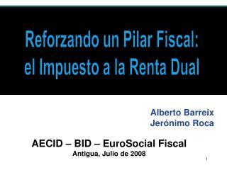 AECID   BID   EuroSocial Fiscal  Antigua, Julio de 2008