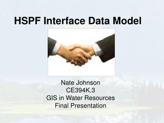 HSPF Interface Data Model