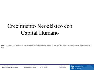 Crecimiento Neocl sico con Capital Humano