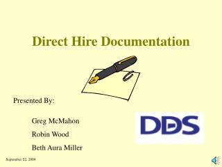 Direct Hire Documentation