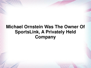 Michael Ornstein NFL