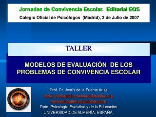 MODELOS DE EVALUACI N  DE LOS PROBLEMAS DE CONVIVENCIA ESCOLAR