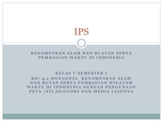 materi IPS kelas V