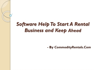 How to Start a Rental Business