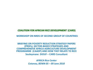 Enhancing Access and Utilization of Improved Seed for Food Security in Kenya