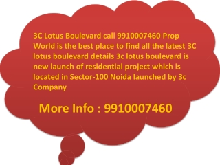 3c Lotus Boulevard noida heralds an era of new world luxurie