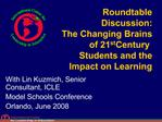 Roundtable Discussion:  The Changing Brains of 21st Century Students and the Impact on Learning