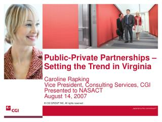 Public-Private Partnerships   Setting the Trend in Virginia
