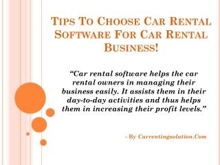 Rent Car Software, Rental Car Software