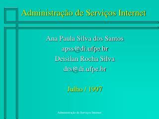 Administra  o de Servi os Internet