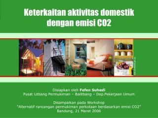 Keterkaitan aktivitas domestik dengan emisi CO2