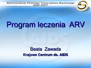 Program leczenia  ARV