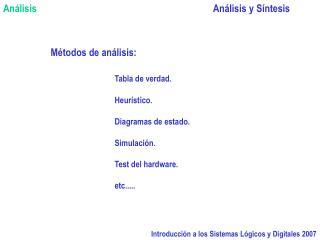 Introducci n a los Sistemas L gicos y Digitales 2007