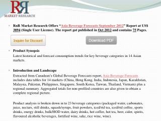 2012 Asia Beverage Market Forecasts to September