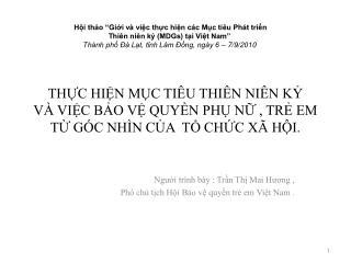 THC HIN MC TI U THI N NI N K  V  VIC BO V QUYN PH N , TR EM  T G C NH N CA  T CHC X  HI.