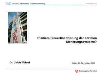 Dr. Ulrich Walwei