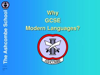 Why  GCSE  Modern Languages