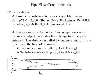 Pipe Flow Considerations