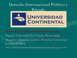 Derecho Internacional P blico y Privado