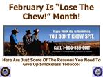 February Is  Lose The Chew  Month