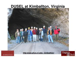 DUSEL at Kimballton, Virginia