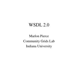 WSDL 2.0