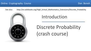 Discrete Probability crash course