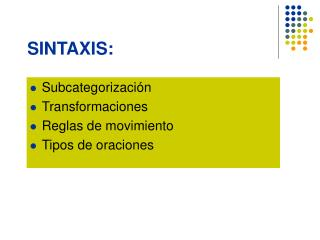 SINTAXIS: