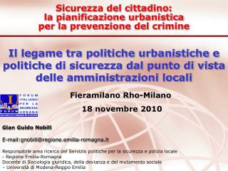 Il legame tra politiche urbanistiche e politiche di sicurezza dal punto di vista delle amministrazioni locali