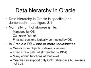 Data hierarchy in Oracle