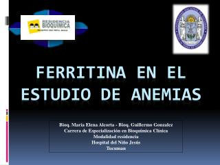 Ferritina EN EL Estudio de anemias