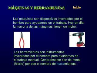 M QUINAS Y HERRAMIENTAS