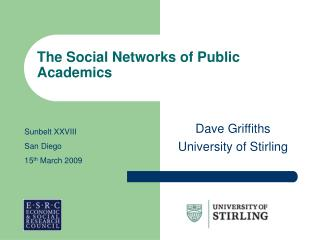The Social Networks of Public Academics