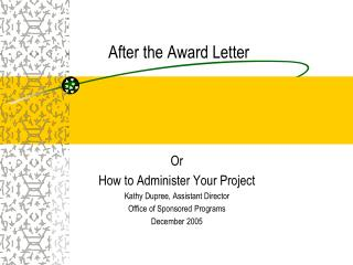 After the Award Letter