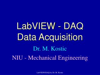 LabVIEW - DAQ Data Acquisition